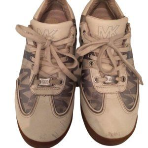 Michael Kors Blue Grey sneakers. monogrammed